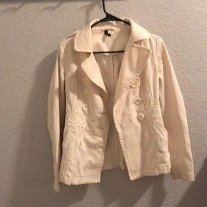White corduroy jacket
